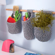Red Heart Hanging Baskets on Dowel