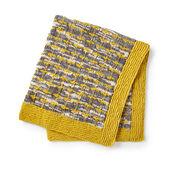 Bernat Gridline Knit Blanket