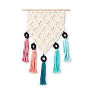 Lily Sugar'n Cream Mini Mock-Rame Crochet Wall Hanging