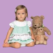 Red Heart Knit Baby Ruffles Dress, 18 mos