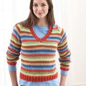 Bernat Sweater With Stripes (To Knit) , XS/S