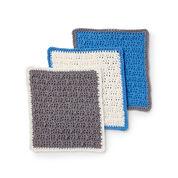 Lily Sugar'n Cream Scrubbing Up Crochet Dishcloth Set, Version 1