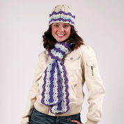 Go to Product: Red Heart Ripple Hat and Scarf in color
