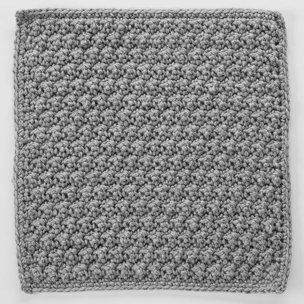 Red Heart Raised Crochet Treble Square for Checkerboard Textures Throw in color