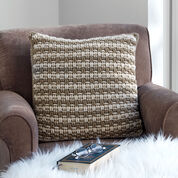 Caron Woven Look Crochet Pillow