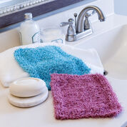 Red Heart Simple Knit Scrubby Washcloth