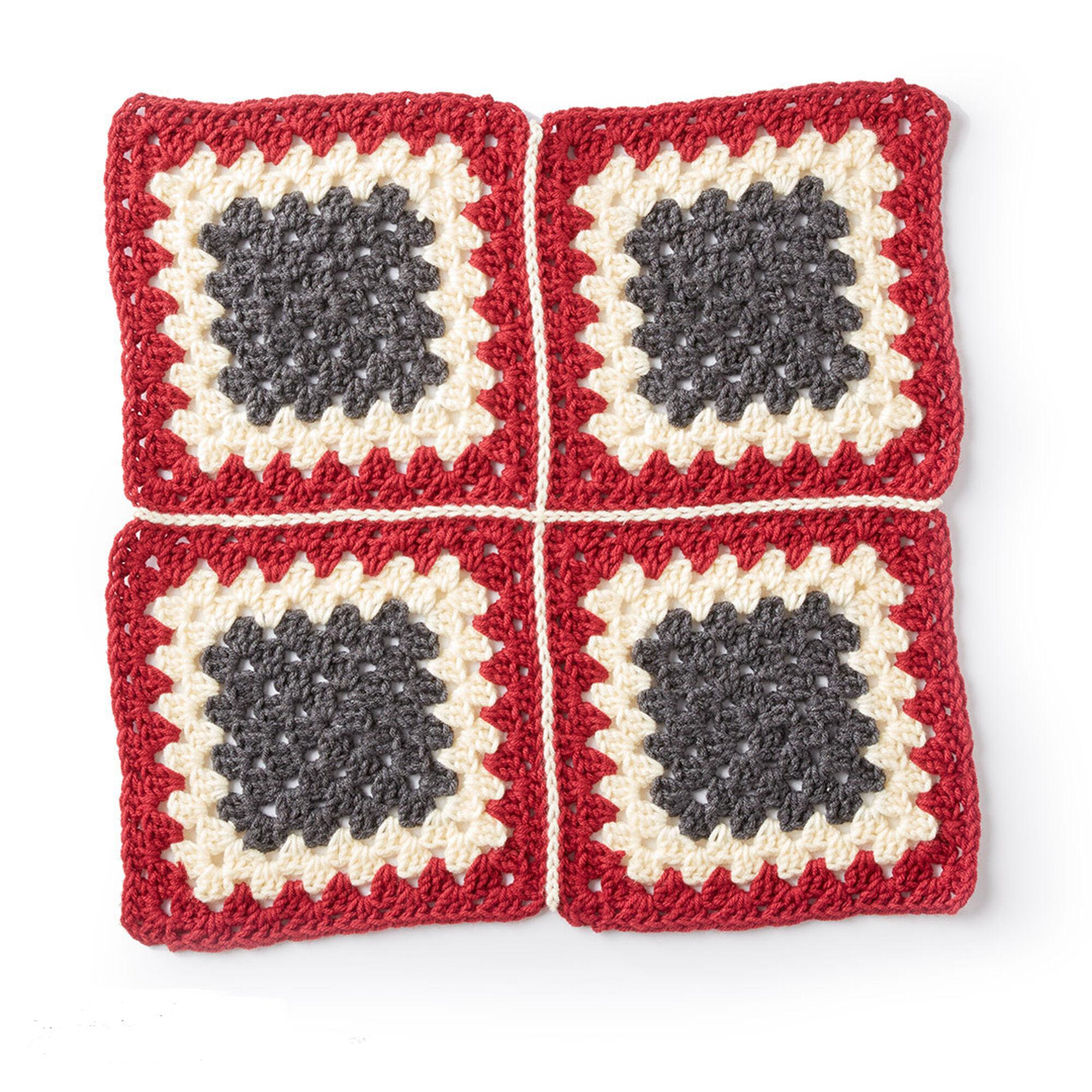 Caron Diamond Crochet Granny Afghan, Version 1 | Yarnspirations