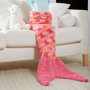 Red Heart Loopy Mermaid Tail Blanket