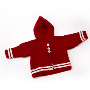 Red Heart Buttoned Up Cardi, 6 mos