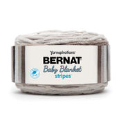 Bernat Baby Blanket Stripes Yarn, Sandbox