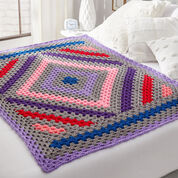 Red Heart Diamond in the Rough Crochet Throw