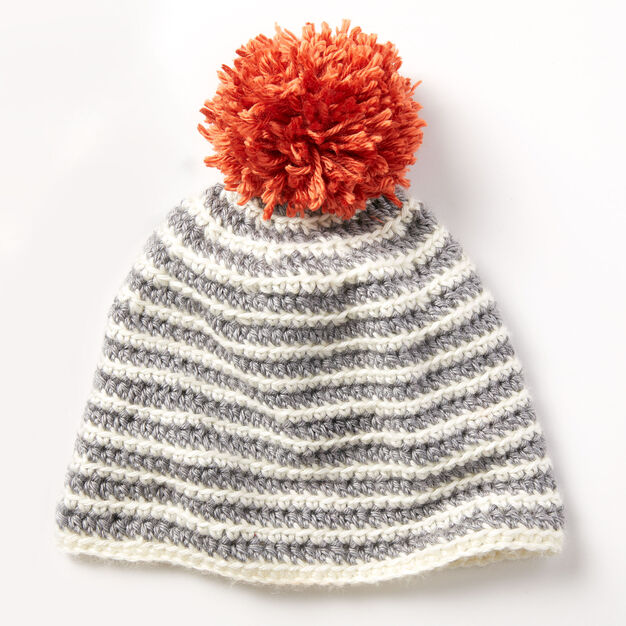 Caron Striped Right Hat in color