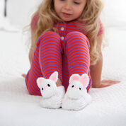Red Heart Pet Pal Bunny Slippers, S