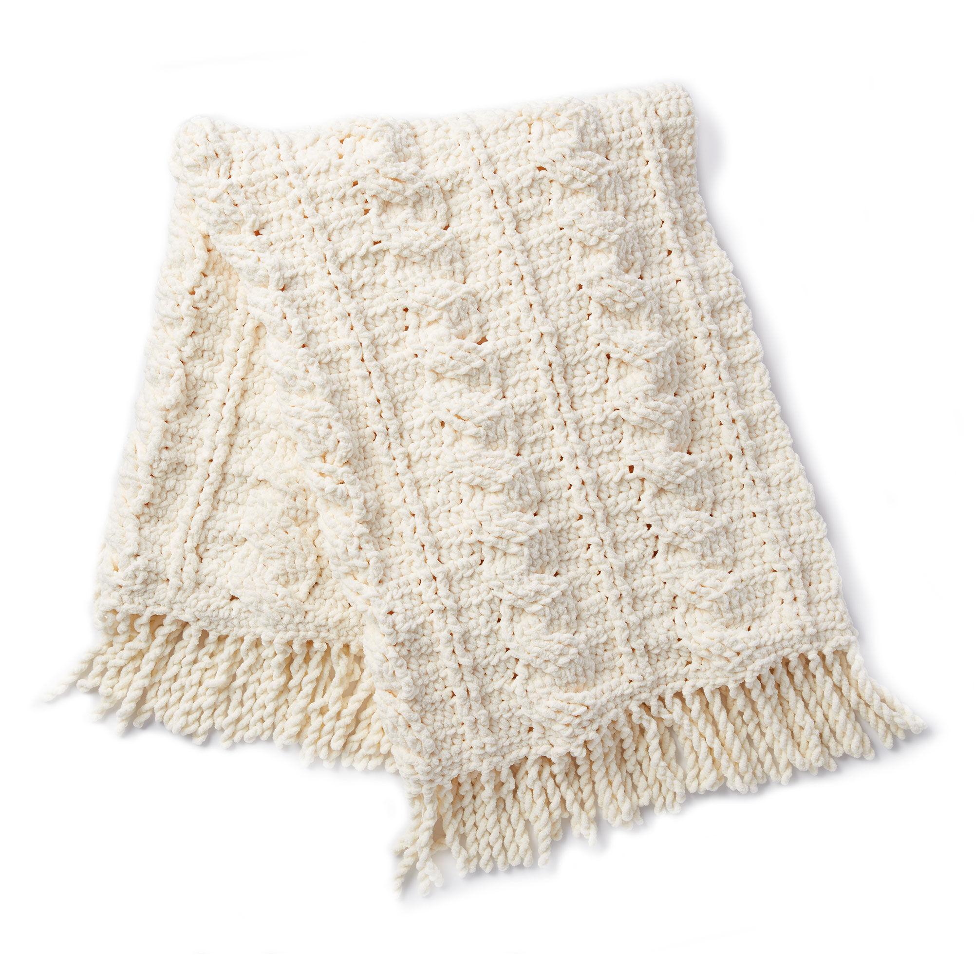 Bernat Crochet Cables Afghan Pumpkin Spice Yarnspirations