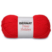 Bernat Happy Holidays Yarn, Silvered Red - Clearance Shades*