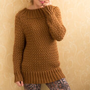 Red Heart Aran Basket Stitch Sweater, S