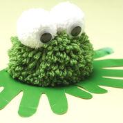 Bernat Pom-Pom Frog with Handprints