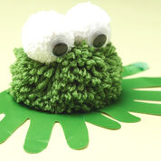 Bernat Pom-Pom Frog with Handprints