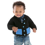 Red Heart Cute & Classic Baby Cardigan, 6 mos