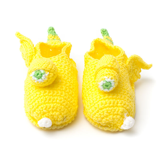 Phentex Yellow Monster Slippers, Size 3-4 in color
