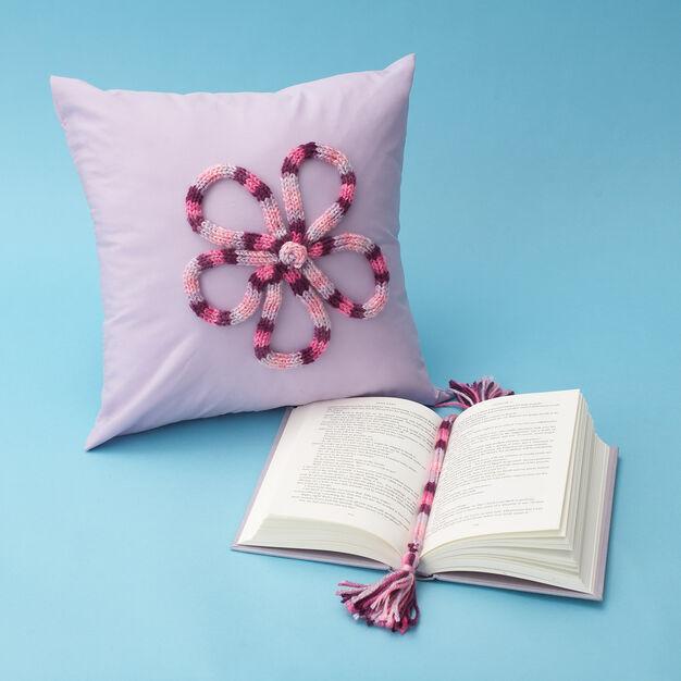 Bernat Spool Knitting Pillow in color