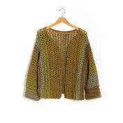 Caron Crochet Boxy Cardigan, XS/S