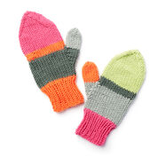 Caron x Pantone Find a Match Knit Mittens