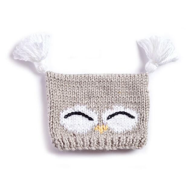 Bernat I'm a Hoot! Knit Hat, 6-12 mos | Yarnspirations