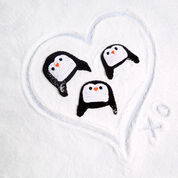Red Heart Picture Perfect Penguin Hat, S