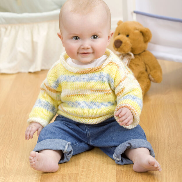 Red Heart Simple Baby Pullover, 12 mos