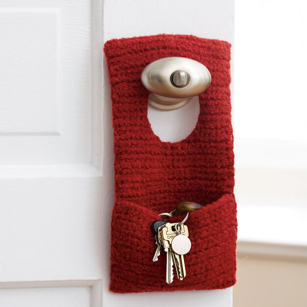 Patons Felted Door Knob Organizer in color