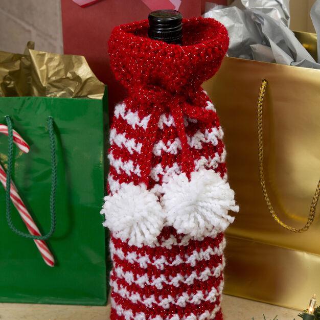 Red Heart Holiday Spirit Bottle Bag in color