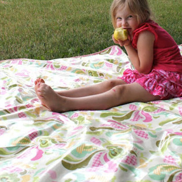 Dual Duty Summer Picnic Blanket in color