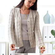Patons Lace and Cable Cardigan, XS/S