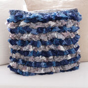 Red Heart Rows of Ruffles Pillow
