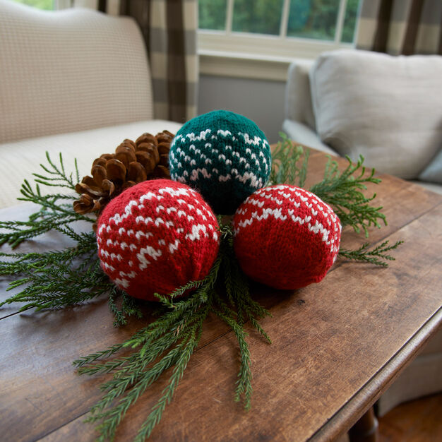 Red Heart Nordic Holiday Balls in color