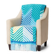 Bernat Cuddly Crochet Herringbone Blanket