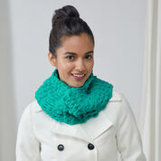 Red Heart Finger Looping Fun Cowl