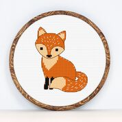 Go to Product: Anchor Fox Cross Stitch design in color