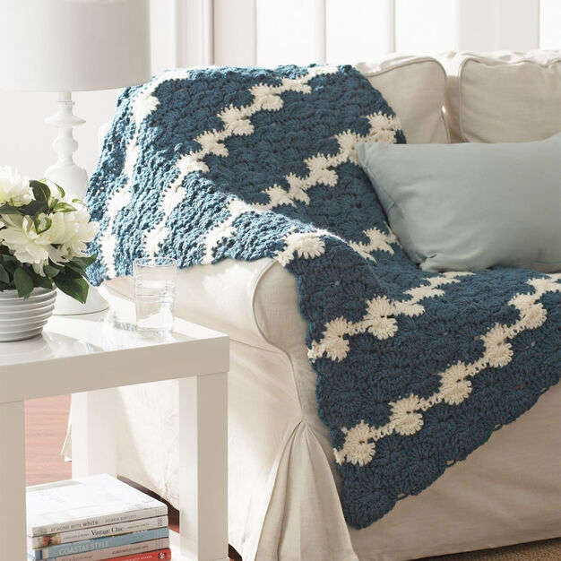 Bernat Gentle Waves Lap Blanket in color