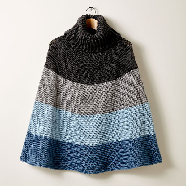 Free Pattern: Cozy Crochet Cowl Cape in Caron Simply Soft yarn