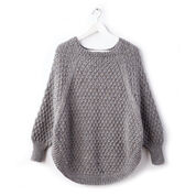 Caron Great Curves Knit Poncho, XS/S/M