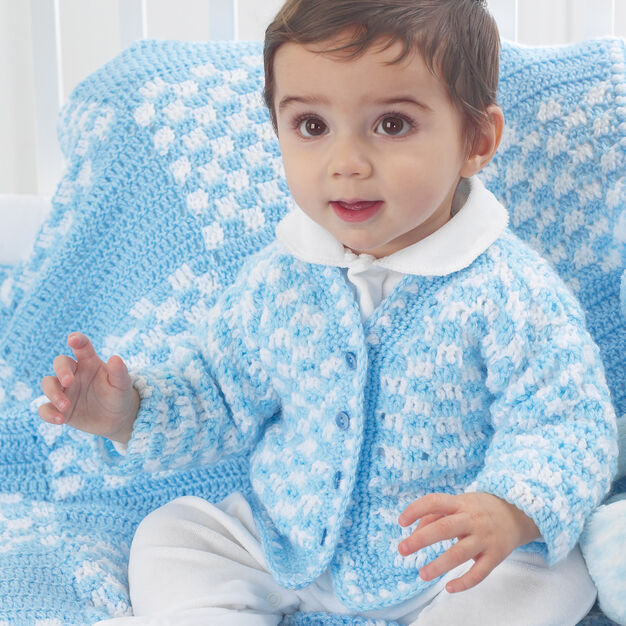Bernat Checkered Blanket