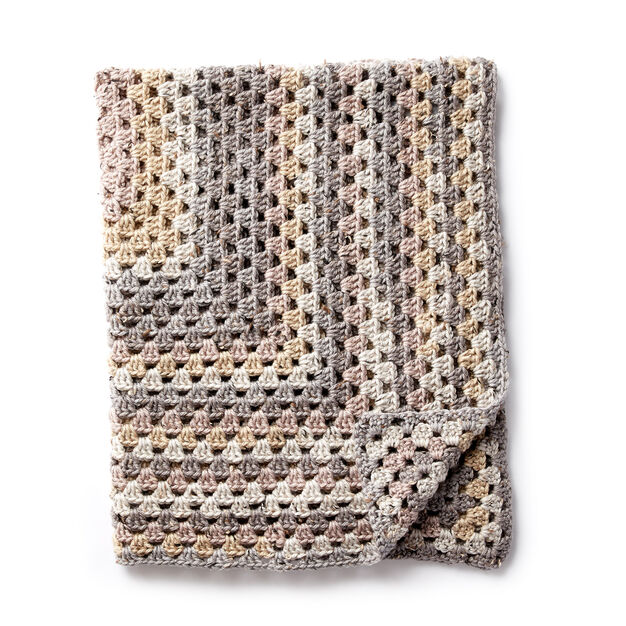 Caron Rectangular Crochet Granny Afghan Pattern Yarnspirations