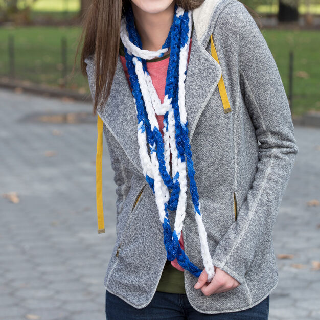 Red Heart Game Time Chain Scarf in color