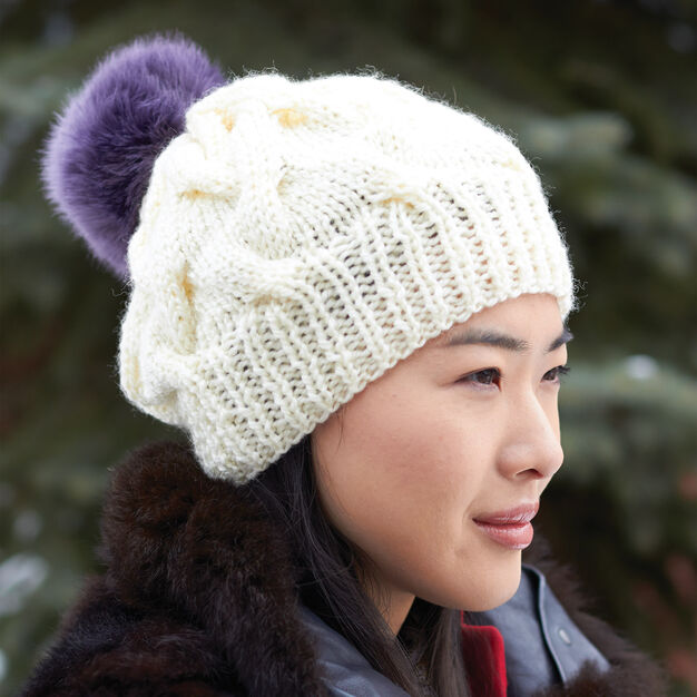 Patons Cable Hat in color