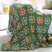 Bernat Field of Flowers Blanket