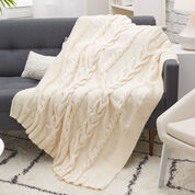 Red Heart Luxurious Cabled Throw