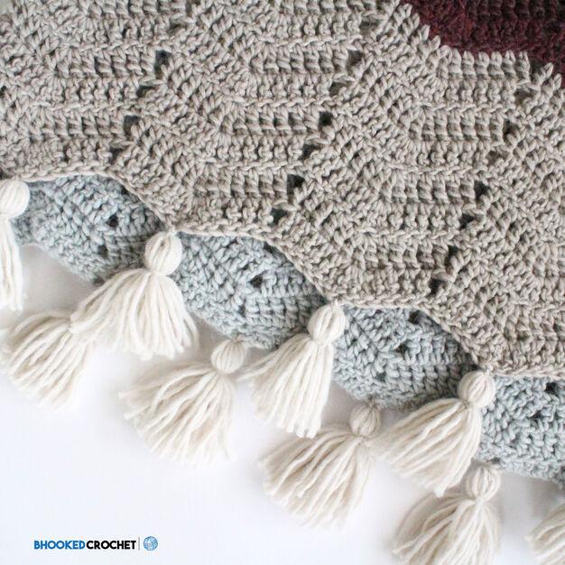 Patons Comfy Chevron Crochet Super Scarf Yarnspirations