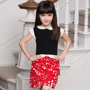 Red Heart Girl's Ruffled Party Dress, 2 yrs